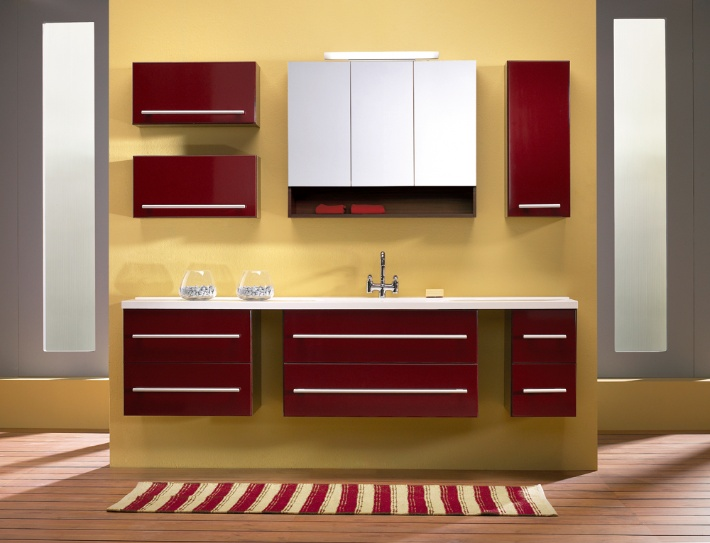 Bathroom Avon Bordeaux Red High Gloss
