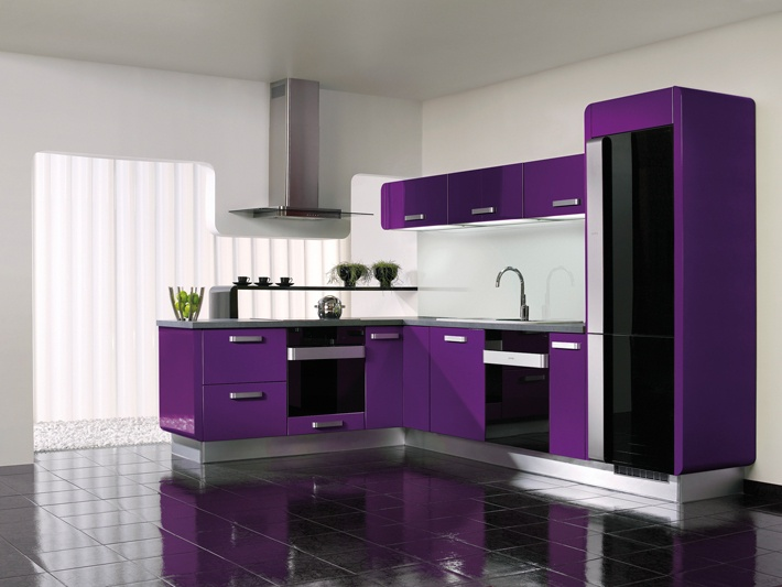 Kitchen Delta purple