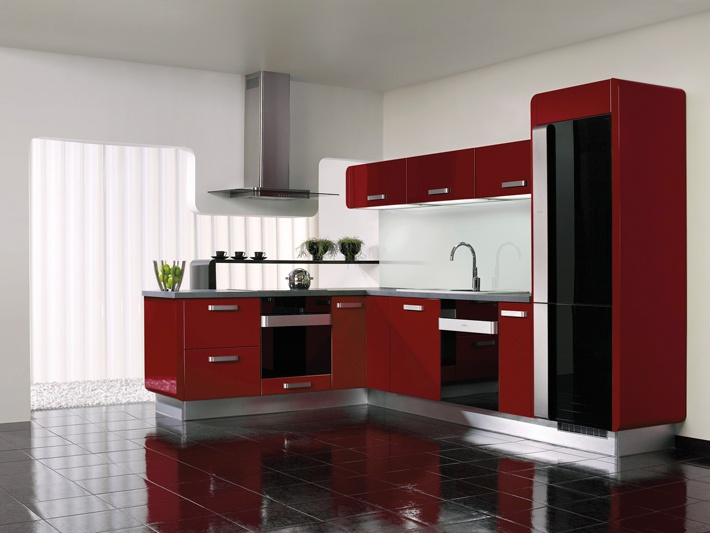 Gorenje Interior Design Kitchen Delta Bordeaux Red