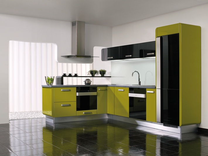 Gorenje interior design kitchen delta olive green for Grey and green kitchen