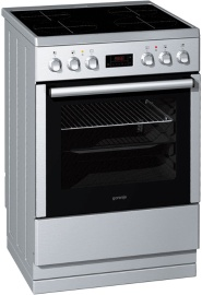 Electric cooker with induction hob EI67321AX