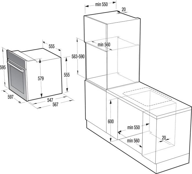 four encastrable bo75syw gorenje simplicity. Black Bedroom Furniture Sets. Home Design Ideas